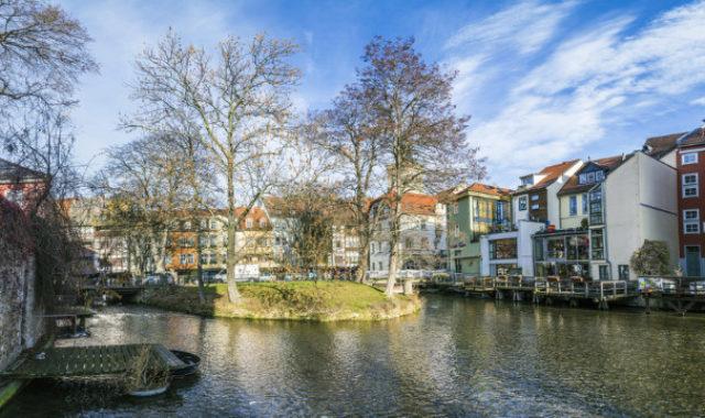 Innenstadt Erfurt am Wasser