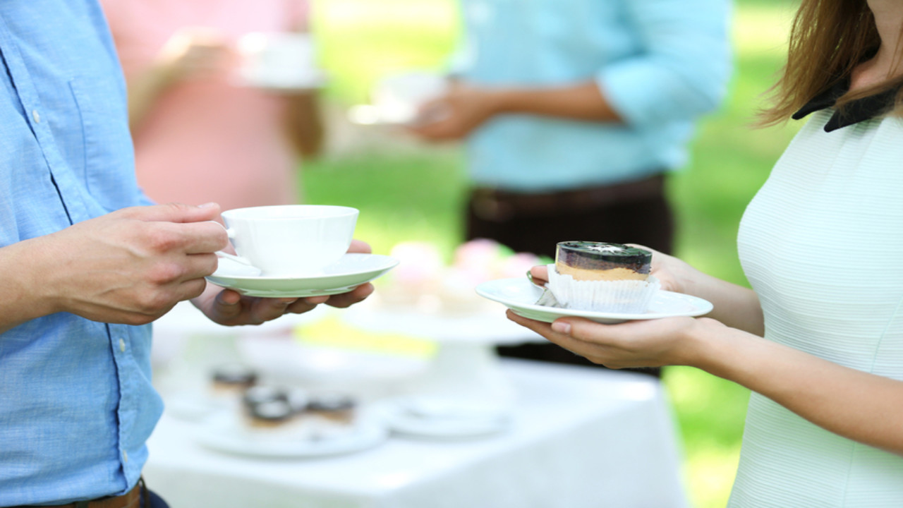 Kaffeepause Garten