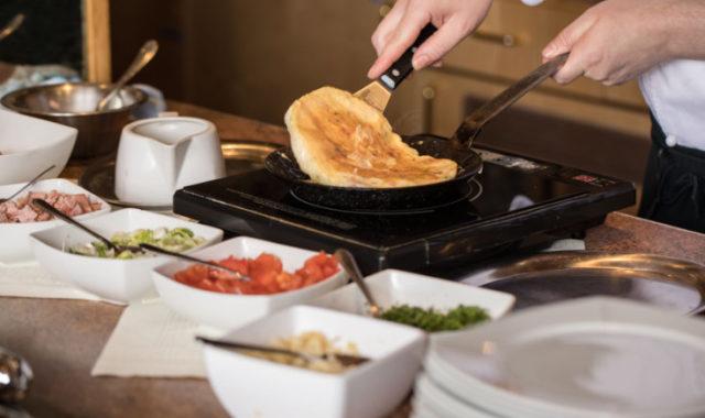 Frisches Omelette Frühstück
